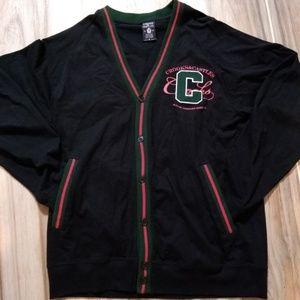 Crooks & Castles Men's Cardigan Medium Black